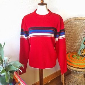Vintage❤️80s Retro Striped Crew Neck Sweater!